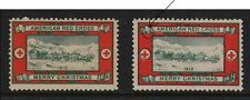 1913-2 Christmas Seals - Both Open and Closed Ribbon Varieties