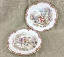 2 Vintage Fragonard Limoges Style Plates by Harrogate Cruse Bone China
