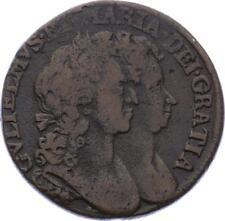 O2059 Scarce UK Irland  Halfpenny 1694 William & Mary ->Make offer
