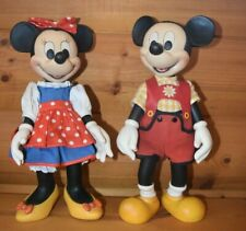 Anri Italy Hand Carved Mickey& Minnie Mouse Clothed Doll Walt Disney Rare!