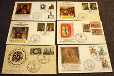 (4) Vatican First Day Of Issue Stamped Envelopes & (2) Italia Stamped Envelopes