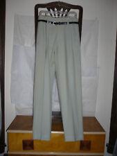 1940s/50s high-waist drop-belt loop gabardine Hollywood pants