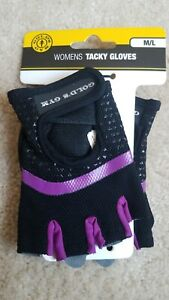 GOLDS GYM Womens Tacky Gloves Ventilated Mesh Weight Lifting Size Medium/large