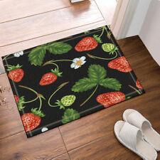 Door Mat Bathroom Rug Bedtoom Carpet Bath Mats Rug Non-Slip Strawberry fruit