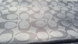 Coach Signature C print Metallic Grey shawl scarf 198 x 63.5cm BNWT rrp £176