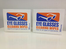 200 x Protective Glasses Cleaning Wipes *pre moistened*