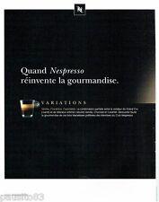 PUBLICITE ADVERTISING  116  2013  Nespresso  le café   variations