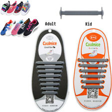 Easy No Tie Elastic Shoe Lace 100 Silicone Trainers Shoes Adult Kids Shoelaces