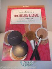 LIMITED EDITION BARE MINERALS TRY BELIEVE LOVE 6 PIECE STARTER KIT MEDIUM TAN