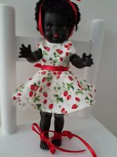 """Vintage English black doll by Pedigree """"Pippin"""" 1960's 12 inches dressed"""