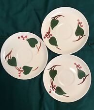 """VINTAGE BLUE RIDGE SOUTHERN POTTERIES, INC. """"STANHOME IVY"""" 3 ~ 6 1/8"""" SAUCERS"""