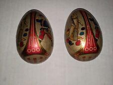 Antique 3.5� Metal Tin Egg Soldier Boy W/ Rabbit - Milk Delivery Receipt Hook