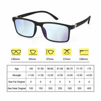 3 in 1 Glasses Progressive Multifocal Lens Anti-blue Light Presbyopia Eyeglasses