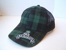 Green Plaid Rickard's Beer Hat Snapback Trucker Cap