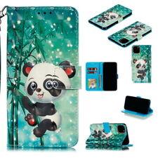 Para iPhone 11 Pro Max XS Xr X 8 7 6s Plus pintado Estuche de Cuero Abatible Billetera Cubierta