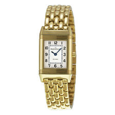 Jaeger LeCoultre Reverso White Dial 18kt Yellow Gold Ladies Watch Q2611110