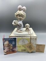 Precious Moments Tied Up For The Holidays #527580 Girl Puppy Collectible MIB
