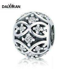 DALARAN 925 Sterling Silber Perlen gefällt Charme Armband Halskette für Frauen