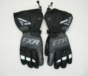 FXR Racing Black Heated Recon Gloves - 200810-1000-19