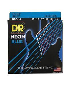 DR Guitar Strings Electric Neon Blue 10-46 Medium