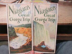 1928 Niagara Falls Great Gorge Trip Brochure Map Whirlpool Rapids Grayline Route