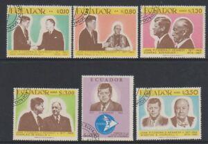 Ecuador - 1967, President Kennedy set - CTO