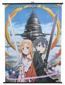 **Legit Poster** Sword Art Online Anime Kirito & Asuna Key Art Wallscroll #60061