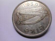 1939  IRELAND/IRISH/EIRE HALF CROWN COIN IN HIGH GRADE