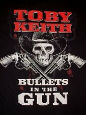 "Toby Keith Bar & Grill ""Bullets in the Gun"" Country Music BRICKTOWN OH TShirt XL"