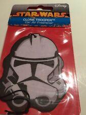 BNIP New Disney Star Wars Clone Trooper Car Air Freshener  - Ocean Fragrance