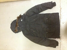 Navy Levis Down Parka coat - Large mens Ex-display ^