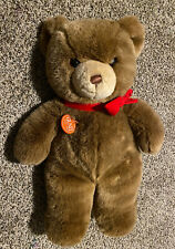 "Vintage Gund Brown Tender Teddy Bear XL 20"" Original Red Tag & Velvet Bow RARE"