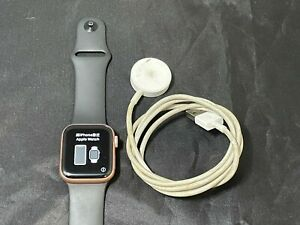 Apple Watch Series 4 Cellular + GPS 40mm Gold Stainless Steel Case W/ Black Band