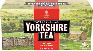 Yorkshire Tea 240 Tea Bags Taylors Of Harrogate great aroma fast postage UK