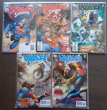 War Of The Supermen #0, #1A-4A ~ Sterling Gates Stories ~ 2010 (9.2) WH