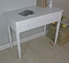 Secretary Desk Table White Antique Shabby Chic Country Cottage Console Sideboard