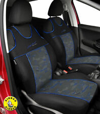 Front seat covers fit MERCEDES C CLASS - VEST SHAPE verlour black / blue