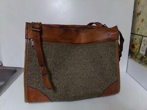 Vintage HARTMANN Tweed  Genuine Leather Luggage Bag