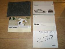 VOLVO S60 & S60R OWNERS MANUAL HANDBOOK PACK  2000 -2009   FREE UK POSTAGE