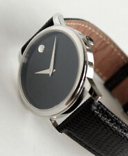 MOVADO Luxury Mens Watch, Black Face, MO.01.1.14.6000, Museum model, with box
