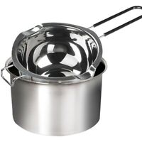 1X(2-Pack Stainless Steel Double Boiler, Heat-Resistant Handle for Chocolat N5R1