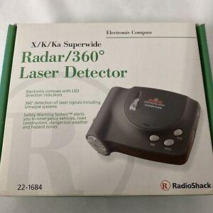 Radio Shack Radar 360 Laser Detector Model No. 22-1684 TESTED Needs Suction Cips