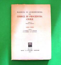 Rassegna di Giurisprudenza sul Codice di Procedura Civile - Ed. Giuffrè 1957
