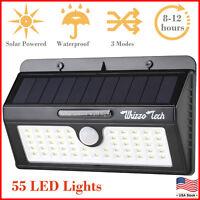 Outdoor Solar Lights Motion Sensor Wall Light Waterproof Garden Yard Lamp 55 LED