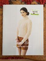 womens knitting patterns.jumpers.size 32-42 Inch Bust.Aran.Debbie Bliss Pattern
