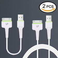 LP 2pcs USB Sync Data Charging Charger Cable Cord fits Apple iPhone 4 4S ipod 3G