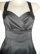 bebe 0 Black Mini Dress Sweetheart Criss Cross Back Cocktail Party Sexy Chic