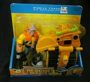 FP Rescue Heroes Mobile Force Rip Rockefeller  & Mini Excavator Factory Sealed!