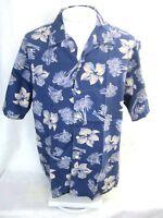 ROUNDTREE & YORKE Men Hawaiian ALOHA shirt pit to pit 26 L floral luau camp tiki