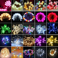 LED Fairy String Lights Battery Operated Wedding Party Outdoor Garden Home Decor